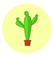 cute colorful cacti icon bright cactus in a pot vector image
