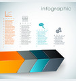 3d chart infographics vector image vector image