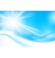 abstract blue background with sunlight and flare vector image