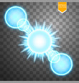 abstract blue energy ring on transparent vector image vector image