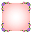 An empty pink template with floral margin vector image vector image