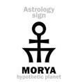 astrology planet morya vector image vector image