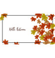 autumn frame background decor with autumn maple vector image