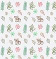 Autumn season hand drawn seamless pattern doodle vector image