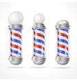 Baber shop pole set vector image