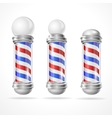 baber shop pole set vector image vector image