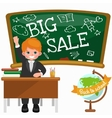Back to School summer sale background Boy and vector image