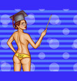 back to school with naked female teacher vector image