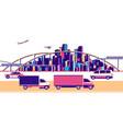 banner urban landscape traffic vector image vector image