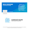 blue business logo template for accounting audit vector image