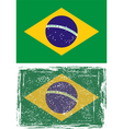 Brazilian grunge flag vector | Price: 1 Credit (USD $1)