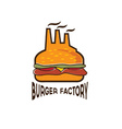 burger factory vector image