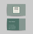 business card art deco design template 01 vector image vector image