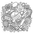 cartoon doodles quarantine vector image