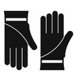 cleaning gloves icon simple style vector image