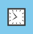 clock icon in square design vector image vector image
