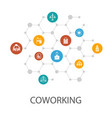 coworking presentation template cover layout and vector image vector image