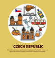 czech republic authentic culture promotional vector image vector image