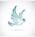 dove peace with olive branch on white vector image