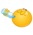 drinking water emoticon vector image vector image