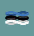 estonia flag ribbon isolated estonian symbol vector image vector image