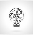 fan black simple line icon vector image