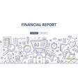 Financial Report Doodle Concept vector image