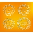 Food monograms orange vector image vector image