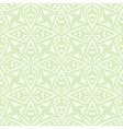 Geometric art deco vintage pattern in white vector image