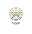 geometric decorative logo mountains abstract vector image vector image