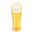 glass of yellow beer icon isometric style vector image vector image