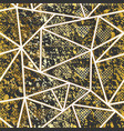 gold grunge triangle pattern vector image vector image