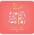 heart sweet love valentine day vector image vector image