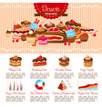 infographics template bakery shop desserts vector image vector image