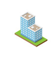 isometric double building vector image