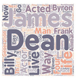 James Dean James Byron Dean text background vector image vector image