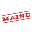 Maine Watermark Stamp vector image vector image