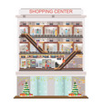 modern shopping mall center decorated for vector image vector image