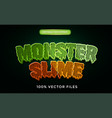 monster slime text effect premium vector image vector image
