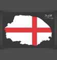 norfolk map england uk with english national flag vector image vector image