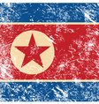 North Korea retro flag vector image