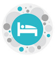 of travel symbol on mattress vector image