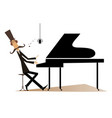 pianist is playing music on piano and singing vector image