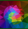 polygonal square background rainbow spectrum vector image vector image