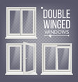 pvc window double-winged opened and vector image vector image