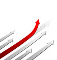 red arrow up success concept vector image