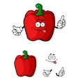 Red bell pepper character vector image vector image