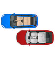salon car wagon and car sedan view from vector image