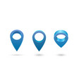 set map pointer 3d pin location symbols vector image