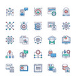 set modern technology icons vector image vector image